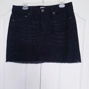 BONGO black denim skirt
